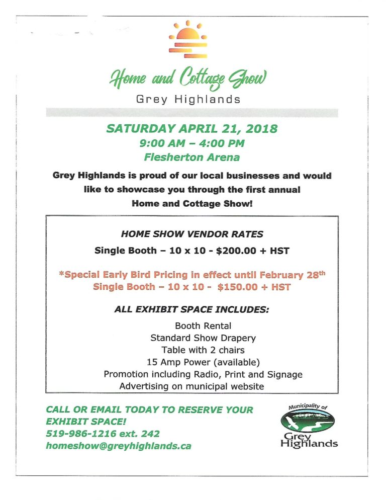 Home & Cottage Show! – Grey Highlands Chamber of Commerce